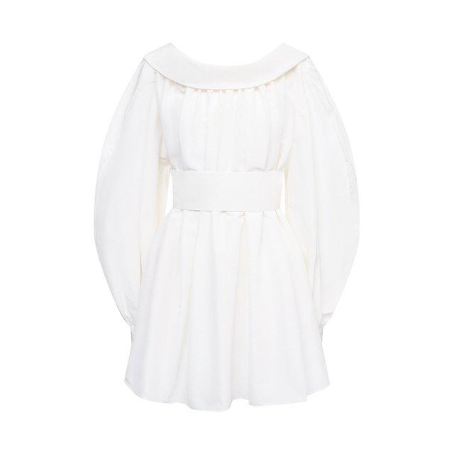 Блузка из хлопка и шелка Alexander McQueen