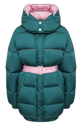 Женский пуховая куртка MSGM темно-зеленого цвета, арт. 2941MDH04D 207655   Фото 1
