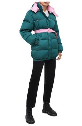 Женский пуховая куртка MSGM темно-зеленого цвета, арт. 2941MDH04D 207655   Фото 2