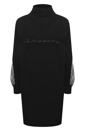 Женское платье из вискозы и шерсти  ERMANNO ERMANNO SCERVINO черного цвета, арт. 47T AB50 VIS   Фото 1