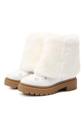 Женские комбинированные ботинки valentino garavani trekkgirl VALENTINO белого цвета, арт. UW0S0AF8/HRT | Фото 1