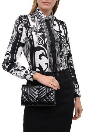 Женская сумка classic SAINT LAURENT черного цвета, арт. 600195/0UFV8   Фото 2