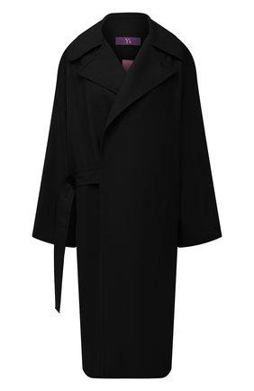 Женское шерстяное пальто Y`S черного цвета, арт. YB-C41-131   Фото 1