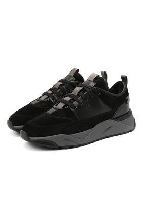 Женские замшевые кроссовки SANTONI черного цвета, арт. WBI060756ANEPPA0N50 | Фото 1