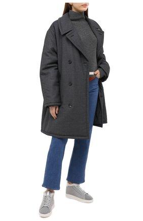 Женские кожаные кеды SANTONI темно-серого цвета, арт. WBWI60726BIAPLLNG45 | Фото 2