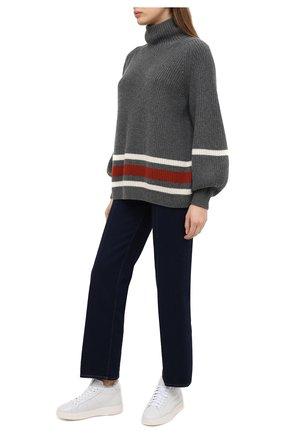 Женские кожаные кеды SANTONI белого цвета, арт. WBWI60762BIAPSSLI55 | Фото 2