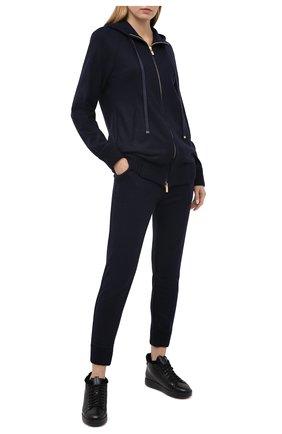 Женские кожаные кеды SANTONI черного цвета, арт. WBWI60762NE0PSSLN01 | Фото 2