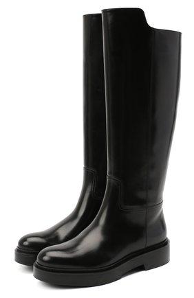 Женские кожаные сапоги SANTONI черного цвета, арт. WSHW59034SM0QBCKN01 | Фото 1