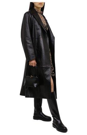 Женские кожаные сапоги SANTONI черного цвета, арт. WSHW59034SM0QBCKN01 | Фото 2