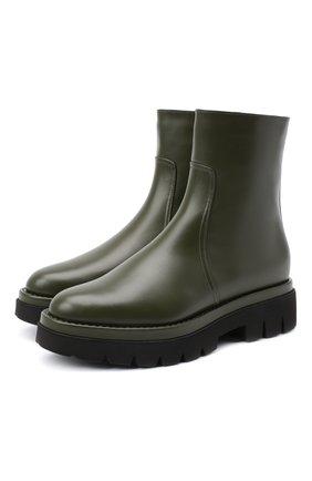 Женские кожаные ботинки SANTONI хаки цвета, арт. WTER59050G0MAUDYV60 | Фото 1