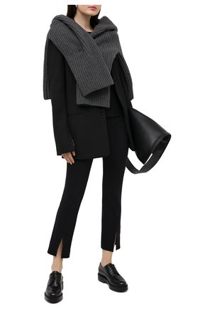 Женская кожаные дерби SANTONI черного цвета, арт. WUHW59043SM0AUDYN01 | Фото 2