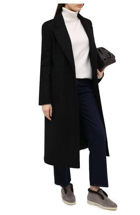 Женские замшевые ботинки SANTONI серого цвета, арт. WUYA58457TISAPFCG55 | Фото 2
