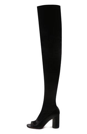 Женские текстильные ботильоны VETEMENTS черного цвета, арт. WAH21B0206 1382   Фото 2