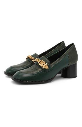 Кожаные туфли Sylvie Chain | Фото №1