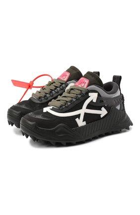 Женские комбинированные кроссовки odsy-1000 OFF-WHITE черно-белого цвета, арт. 0WIA180E20FAB0011001   Фото 1