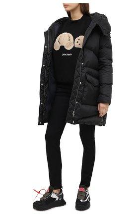 Женские комбинированные кроссовки odsy-1000 OFF-WHITE черно-белого цвета, арт. 0WIA180E20FAB0011001   Фото 2