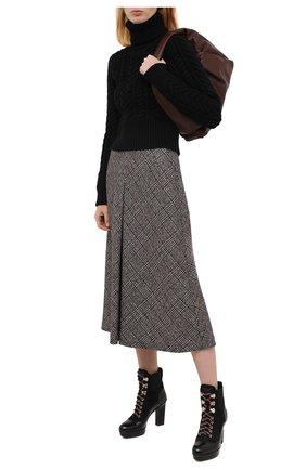Женские кожаные ботильоны SANTONI черного цвета, арт. WTBL58982SM0NUNKN01 | Фото 2