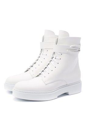 Женские кожаные ботинки SANTONI белого цвета, арт. WTHW58873TISNW0PI50 | Фото 1