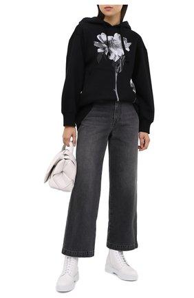 Женские кожаные ботинки SANTONI белого цвета, арт. WTHW58873TISNW0PI50 | Фото 2