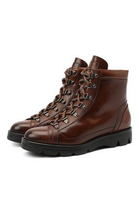 Женские кожаные ботинки SANTONI коричневого цвета, арт. WTUD58933SM0NLESC45 | Фото 1