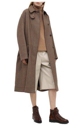 Женские кожаные ботинки SANTONI коричневого цвета, арт. WTUD58933SM0NLESC45 | Фото 2