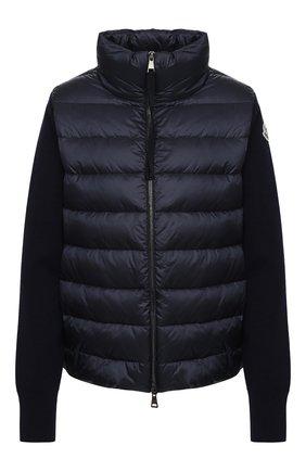 Женский пуховая куртка MONCLER темно-синего цвета, арт. F2-093-9B511-00-A9018 | Фото 1