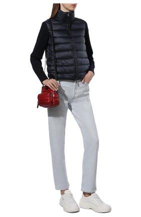 Женский пуховая куртка MONCLER темно-синего цвета, арт. F2-093-9B511-00-A9018 | Фото 2