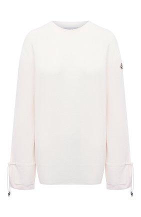 Женский шерстяной пуловер MONCLER белого цвета, арт. F2-093-9C719-00-A9361 | Фото 1