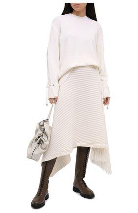Женский шерстяной пуловер MONCLER белого цвета, арт. F2-093-9C719-00-A9361 | Фото 2