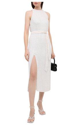 Женское платье из вискозы RETROFÊTE белого цвета, арт. HL20-2424 | Фото 2