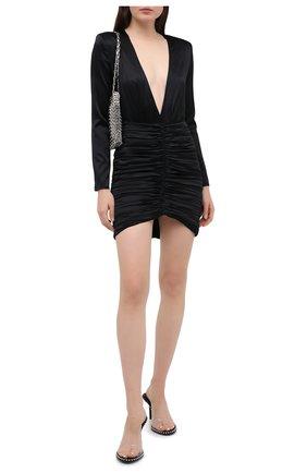 Женское шелковое платье RETROFÊTE черного цвета, арт. PF20-2858 | Фото 2