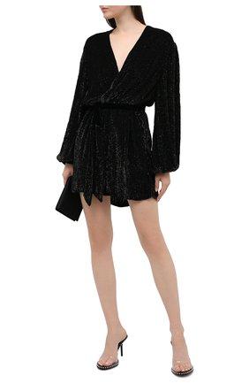 Женское платье из вискозы RETROFÊTE черного цвета, арт. SS20-2720 | Фото 2