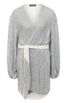 Женское платье из вискозы RETROFÊTE серебряного цвета, арт. SS20-2720 | Фото 1