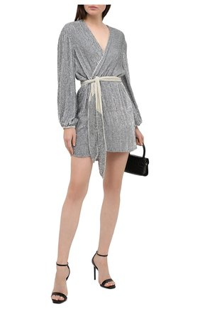 Женское платье из вискозы RETROFÊTE серебряного цвета, арт. SS20-2720 | Фото 2