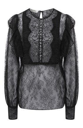 Женская блузка VALENTINO черного цвета, арт. UB0AE5E6632 | Фото 1