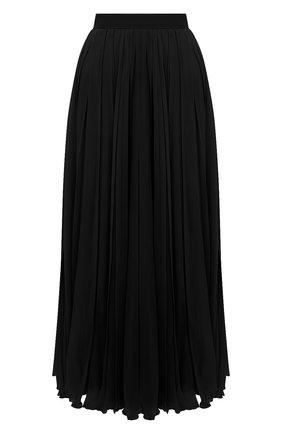 Женская шелковая юбка VALENTINO черного цвета, арт. UB0RA6U02UP | Фото 1