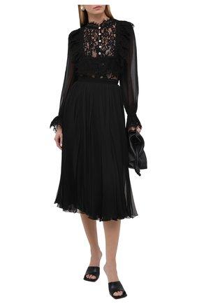 Женская шелковая юбка VALENTINO черного цвета, арт. UB0RA6U02UP | Фото 2