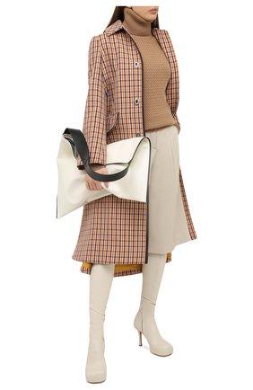 Женская шерстяной свитер DOLCE & GABBANA бежевого цвета, арт. FX898T/JAM5C | Фото 2