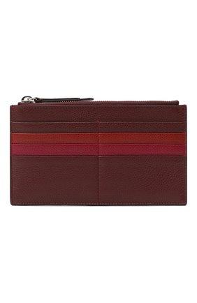 Женский кожаный футляр для кредитных карт COCCINELLE бордового цвета, арт. E5 GV1 19 D1 16 | Фото 1
