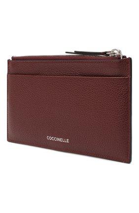 Женский кожаный футляр для кредитных карт COCCINELLE бордового цвета, арт. E5 GV1 19 D1 16 | Фото 2