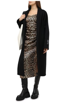 Женское шелковое платье GANNI леопардового цвета, арт. F5270 | Фото 2