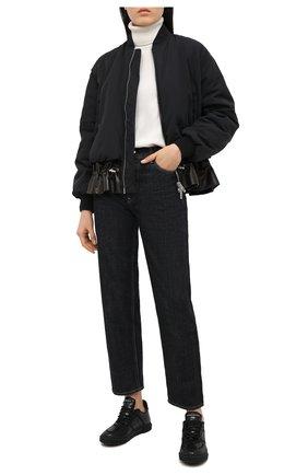 Женские кожаные кеды GIUSEPPE ZANOTTI DESIGN черного цвета, арт. RW00079/002   Фото 2
