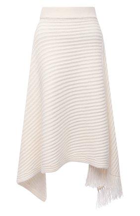 Женская кашемировая юбка THE ROW белого цвета, арт. 5356Y176   Фото 1