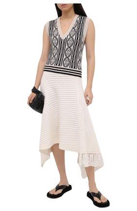 Женская кашемировая юбка THE ROW белого цвета, арт. 5356Y176   Фото 2