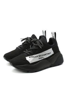 Женские текстильные кроссовки STELLA MCCARTNEY черно-белого цвета, арт. 800257/N0169   Фото 1