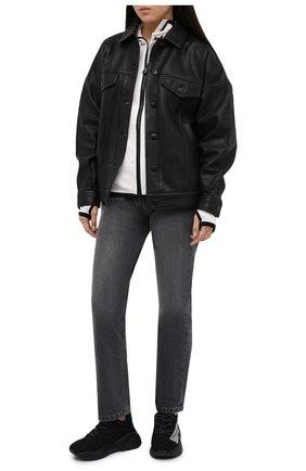 Женские текстильные кроссовки STELLA MCCARTNEY черно-белого цвета, арт. 800257/N0169   Фото 2