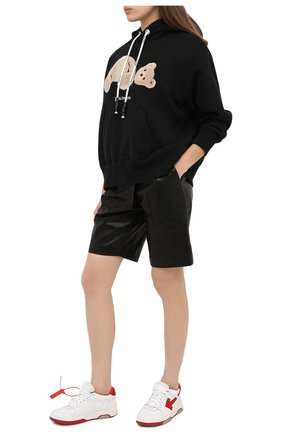 Женская хлопковое худи PALM ANGELS черного цвета, арт. PWBB023F20FLE0031060 | Фото 2