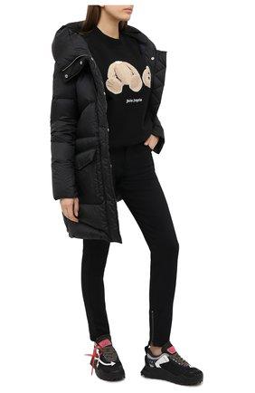 Женская хлопковый свитшот PALM ANGELS черного цвета, арт. PWBA017F20FLE0011060 | Фото 2