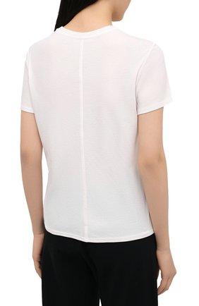 Женская футболка из хлопка и кашемира THE ROW кремвого цвета, арт. 5310K337 | Фото 4