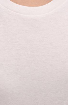 Женская футболка из хлопка и кашемира THE ROW кремвого цвета, арт. 5310K337 | Фото 5